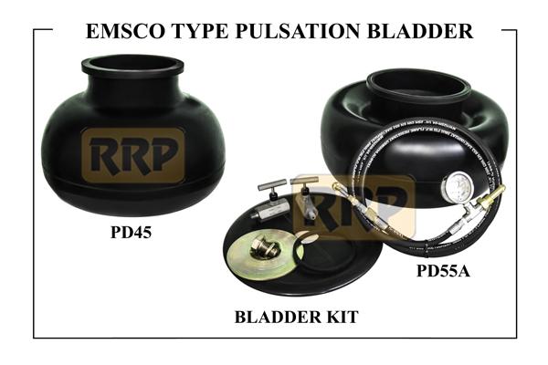 EMSCO pulsation bladder, Pulsation Bladder, Pulsation Dampener Bladder, Pulsation Dampener replacement parts, Pulsation bladder and kits, K20 pulsation bladder