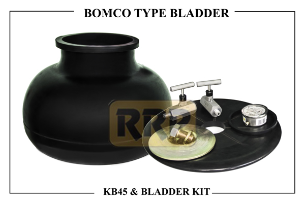 BOMCO KB 45 Pulsation Bladder/ Dampener and Bladder Kits, pulsation dampener for reciprocating pumps, Pulsation bladder for reciprocating pumps, Urethane Pulsation Bladders, hydril pulsation dampener, Hydril pulsation bladder