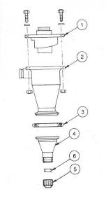 Replacement Parts for 10'' Brandt Desander Cones